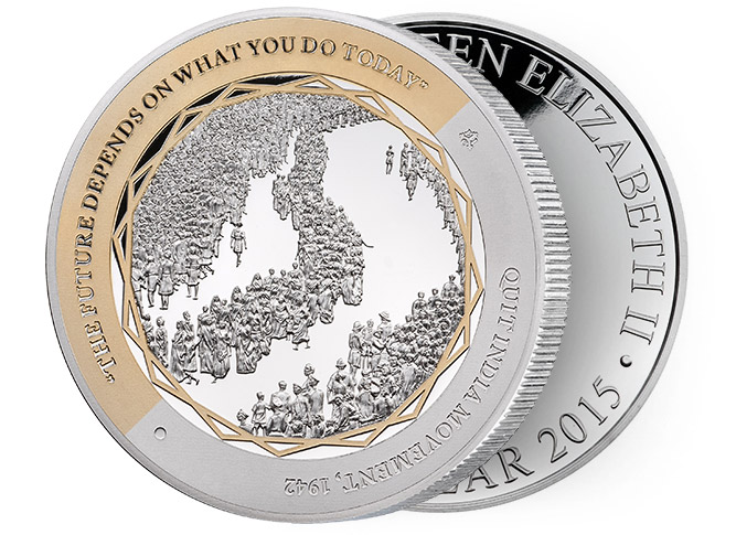 Gandhi Fine Silver Coin, The Quit India Movement, Be the Change You Wish to See in the World